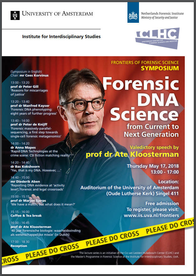Speciaal symposium Forensic DNA science - from Current to Next Generation
